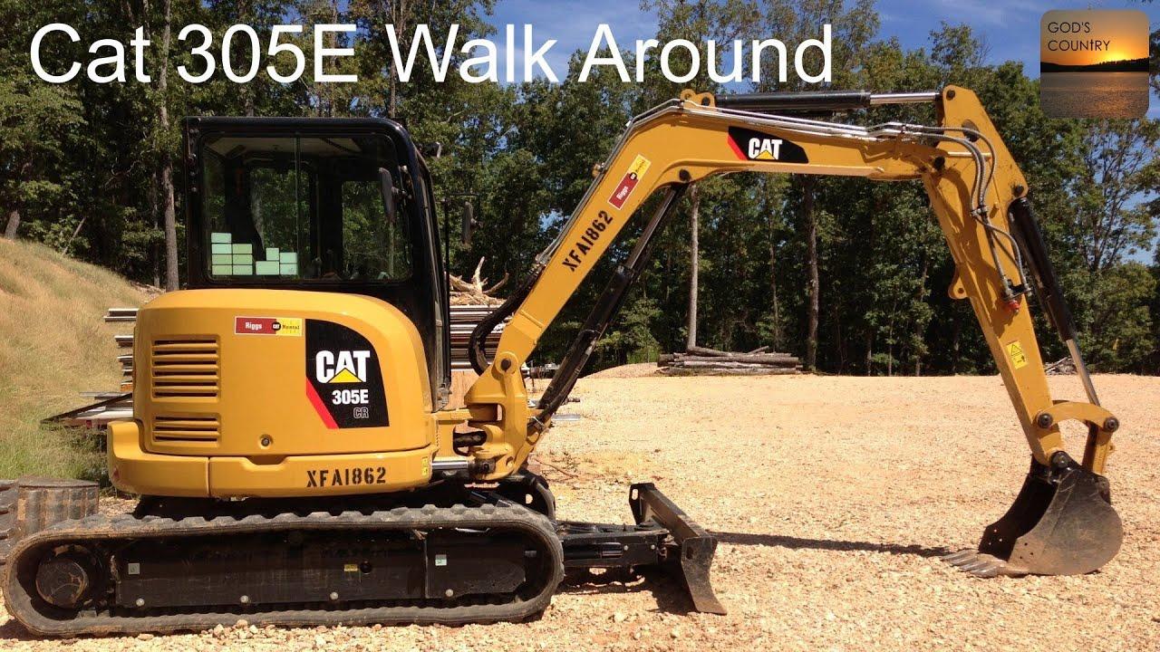 Cat 305E Excavator Walk Around - Under Hood, In-Cab, and Exterior