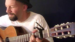 """Fragile"" (Sting) & ""Concierto de Aranjuez"" (Rodrigo) mashup fingerstyle - Daryl Shawn"