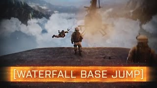 ► WATERFALL BASE JUMP? -  Battlefield 4 Jungle Map
