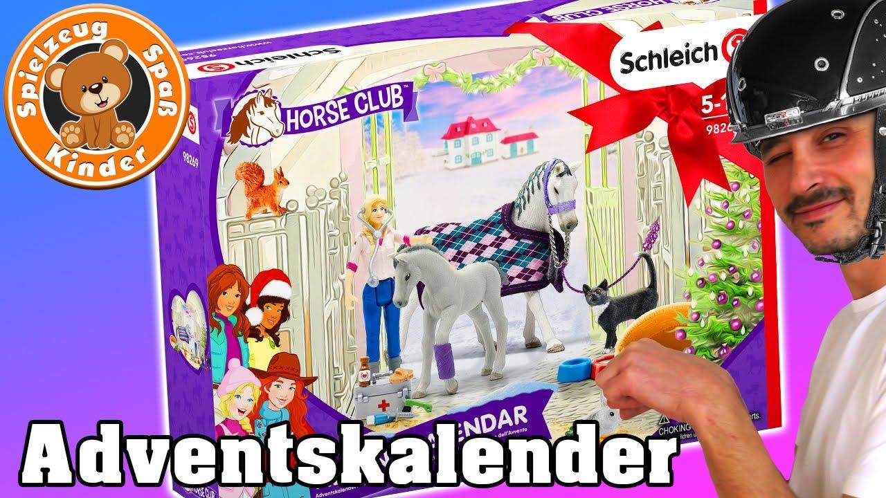 SCHLEICH FIGUREN Pferde Horse club adventskalender aufmachen unboxing Spielzeug