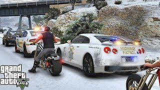 GTA 5 MODS LSPDFR 995  - GTR HIGHWAY SNOW PATROL!!! (GTA 5 REAL LIFE PC MOD)