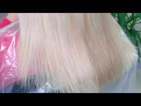 Состояние волос после снятия капсул,просто прочесали расческой.