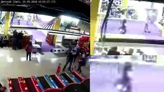Анализ видео с камеры наблюдения ТЦ 'Зимняя вишня'