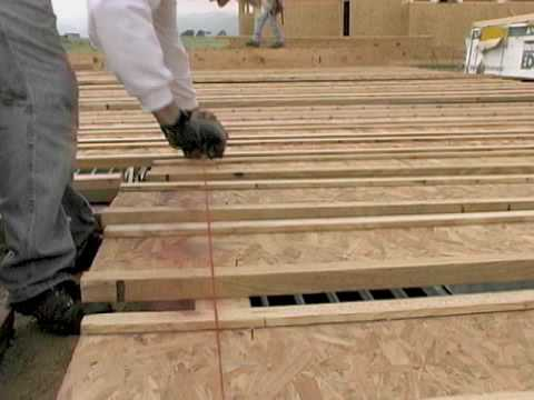 Cutting Floor Joists To Length Youtube