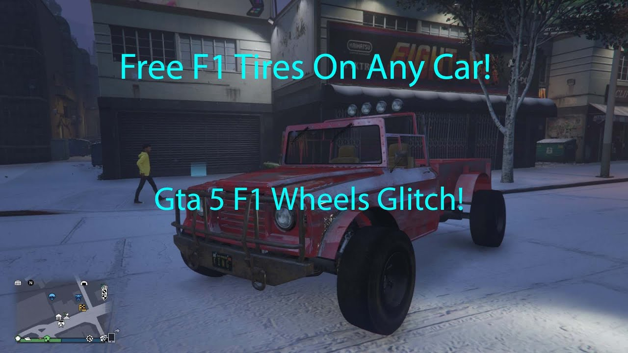 Fast And Easy How To Get F1 Tires On Any Car Gta5 Modded Car Glitch Youtube