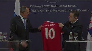 Глава МИД Сербии оценил игру Лаврова на «десятку» и подарил Захаровой «сердце»