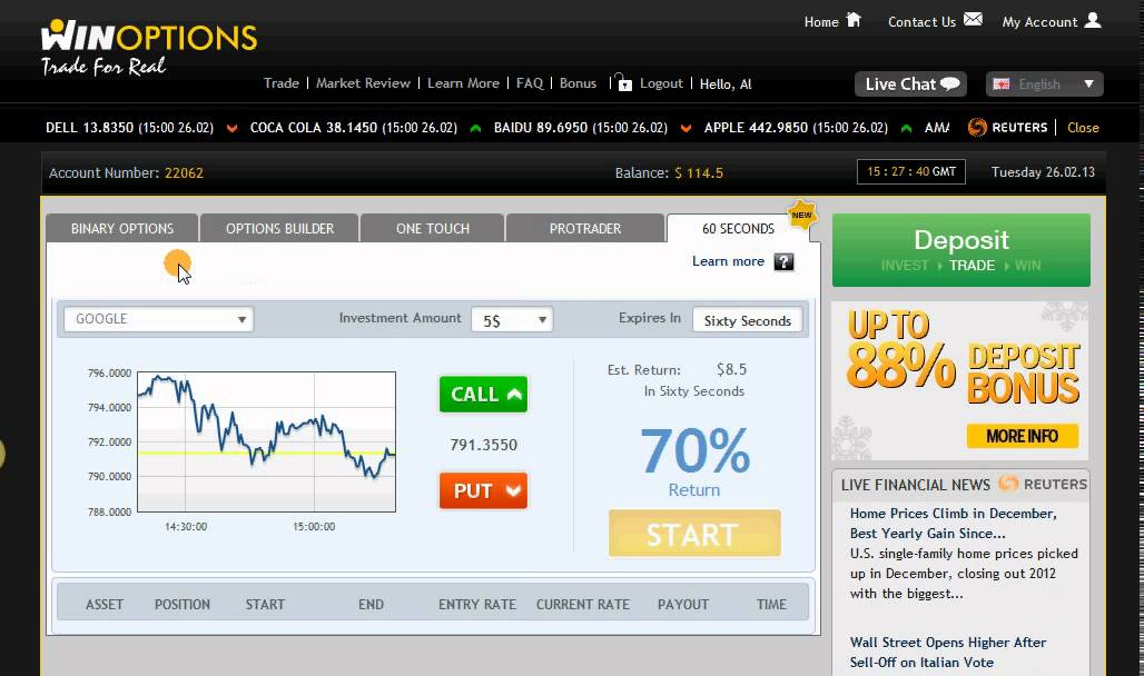 Binary options free 100