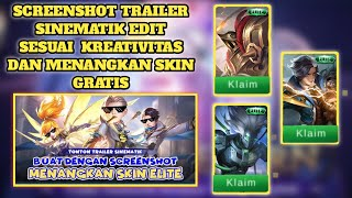 SKIN ELITE PERMANEN GRATIS CUKUP EDIT SCREENSHOT TRAILER SINEMATIK! EVENT TERBARU MOBILE LEGENDS