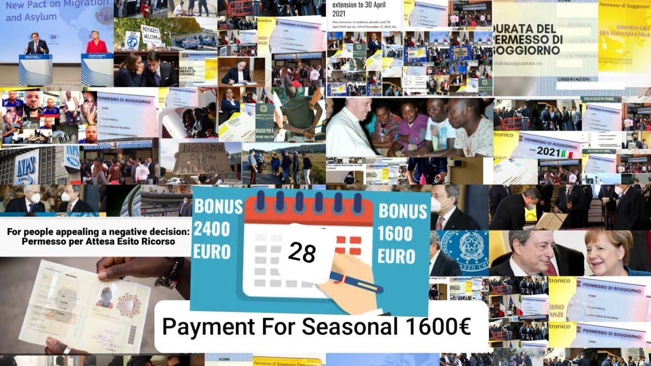 Woo Payment Date 1600€ Seasonal Workers Starting June ...