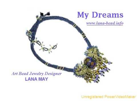 Art Beaded Necklaces. Designer Lana May