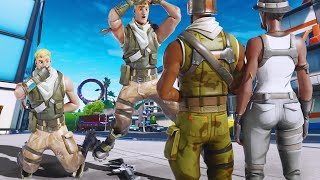 When the RAREST SKINS in Fortnite go into Squads Fill... (they freaked out!)