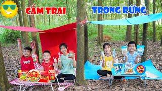 Cắm Trại Trong Rừng Theo Màu Xanh Đỏ ♥ Min Min TV Minh Khoa
