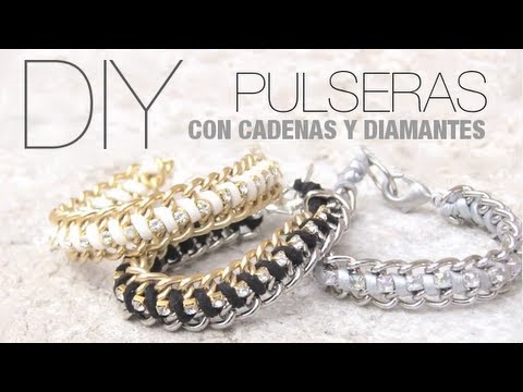 0e2b1bb977c2 DIY Pulseras fáciles con cadenas - YouTube