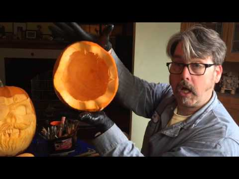 Professional Pumpkin Carver Jonathan Barwood Gives Carving Advice
