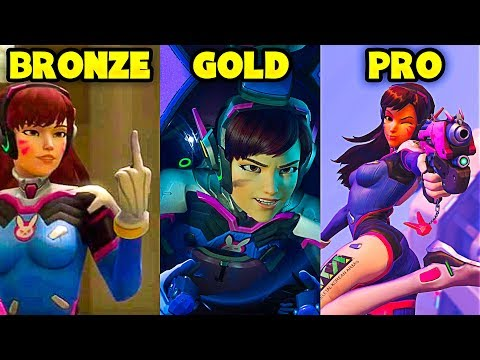BRONZE vs GOLD vs PRO - Overwatch Pro + Funny Moments #21 thumbnail