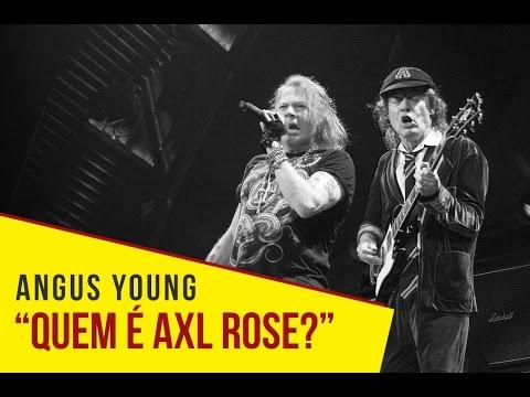 """AC/DC – Angus Young: """"Quem é Axl Rose?"""""""