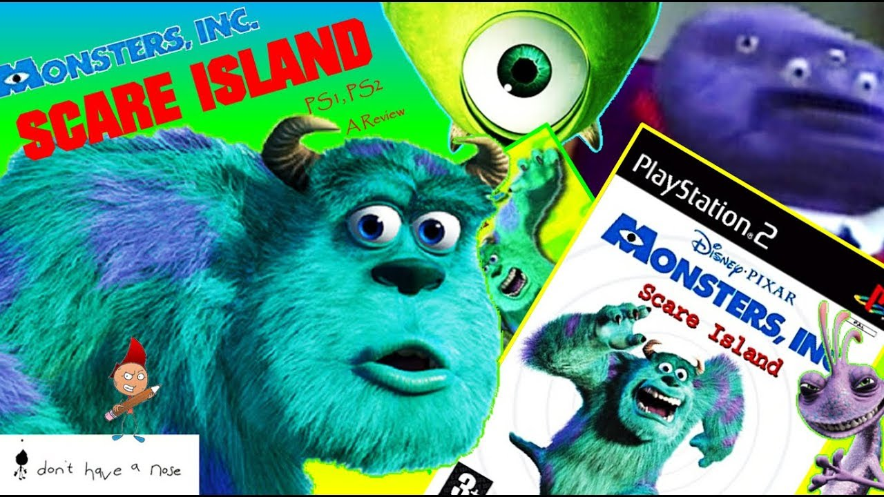 Disney Pixar Monsters Inc Scare Island Scream Team Ps1 Ps2 I Don T Have A Nose Review Youtube