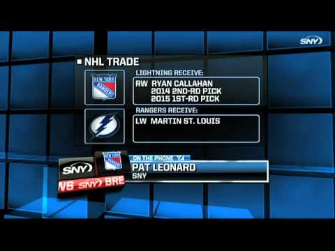 Rangers trade Ryan Callahan for Martin St. Louis