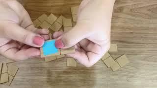Mẹ làm bộ đồ chơi domino hình học cho bé thông minh và thoả sức sáng tạo