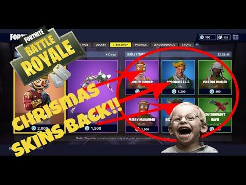 All Christmas Skins Fortnite.They Re Back All Christmas Skins In Fortnite Battle Royal Are Back In The Item Shop Know