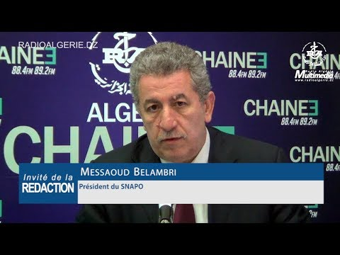 Messaoud Belambri  Président du SNAPO syndicat national des pharmaciens d'officine