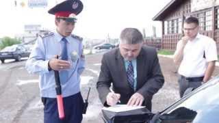 Сотрудники полиции бегством спасаются от граждан РК. Район КарГУ