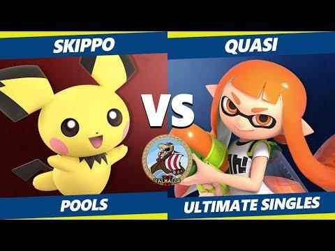 Smash Ultimate Tournament - Skippo (Pichu) Vs. QUASI (Inkling) Valhalla II SSBU Pools thumbnail