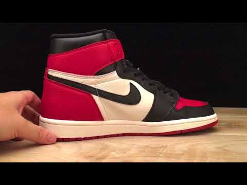 "on sale 7ed6a 00b02 Air Jordan 1 Retro High OG ""Bred Toe 555088 610"