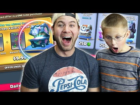MY SON BUYS the LEGENDARY VALUE PACK - Clash Royale