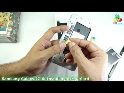 How to Install SIM & SD Card in Samsung Galaxy J7-6 (2016)