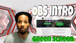 obs studio green screen how to