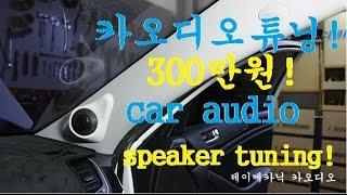 자동차 300만원 카오디오튜닝 작업과정 동영상 car audio speakers design tweeter speakers subwoofer speakers box