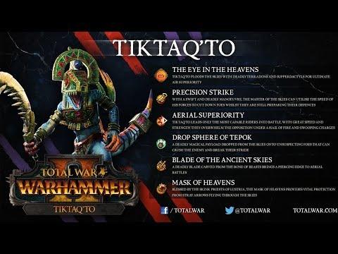 Tiktaq'to - NEW FLC Legendary Lord - Total War Warhammer 2 Prophet and Warlock DLC