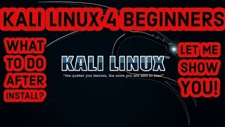 Kali Linux For Begiฑners Tutorial - What To Do After Installing Kali Linux (SUBTITLES AVAILABLE)