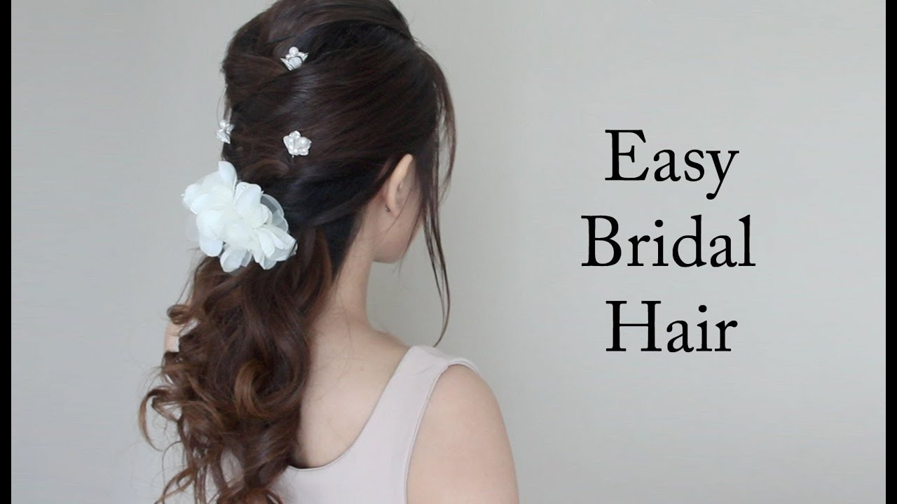 Easy Bridal / Prom Hair Tutorial - YouTube