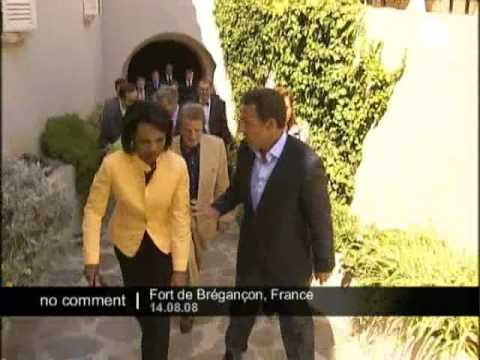 Condoleezza Rice arrived in France
