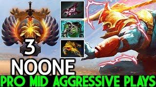 NOONE [Huskar] Epic Raid Boss Top Mid Aggressive Plays 7.22 Dota 2