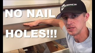 The BEST way to install creak free wood stair treads WITHOUT NAILS!