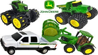 COLLECTION OF JOHN DEERE MIGHTY MACHINES INCLUDING - MEGA HAULING MONSTER TREADS AND GEAR FORCE