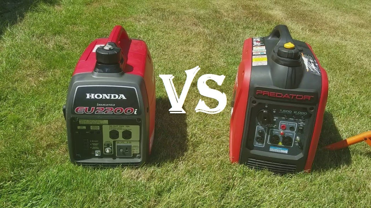 Honda Eu2200i Vs Predator 2000 Inverter Generator - YouTube
