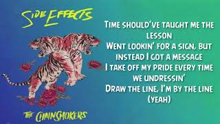THE CHAINSMOKERS - SIDE EFFECTS (LYRIC VIDEO) FT. EMILY WARREN
