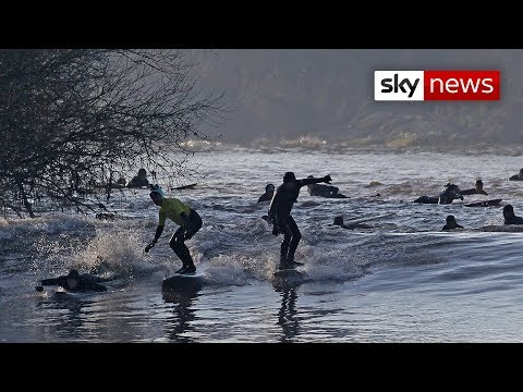 Incredible Severn Bore Wave
