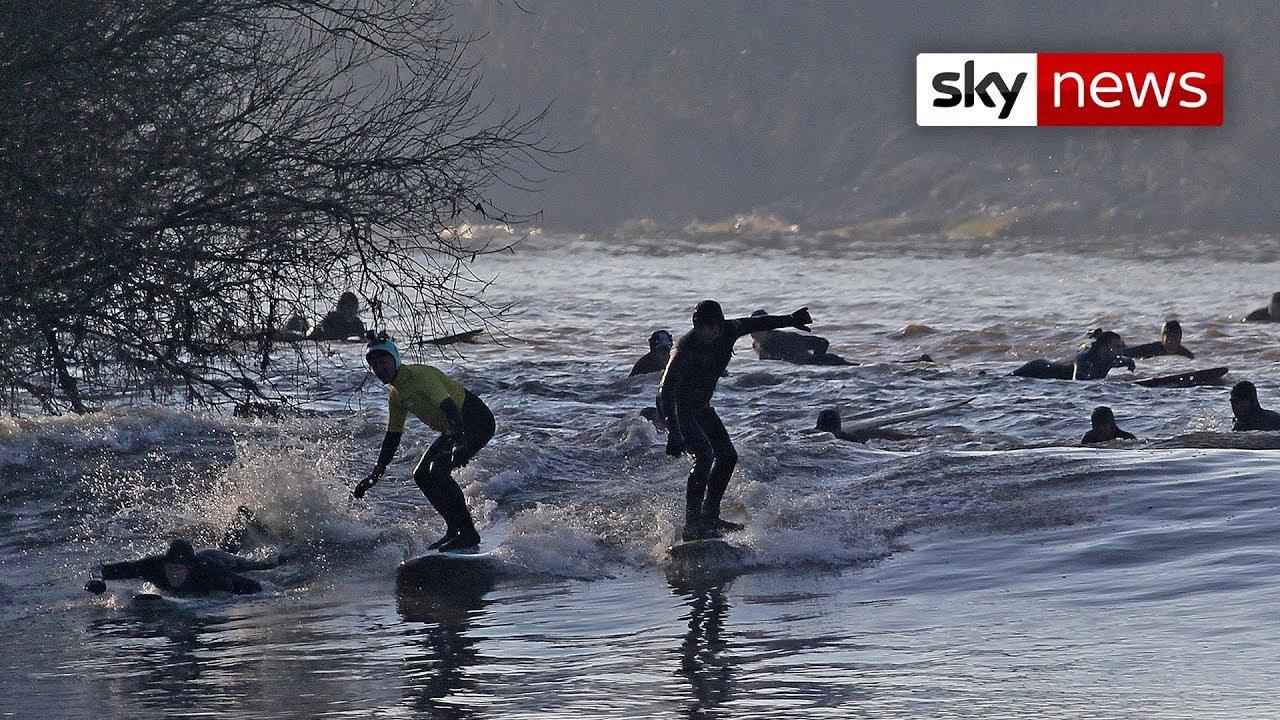 Incredible Severn Bore Wave