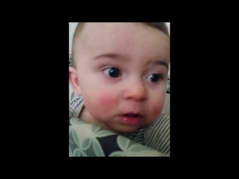 My baby boy loves Adele's new video 'Hello'