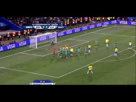 HD Brazil 1 South Africa 0 Dani Alves goal
