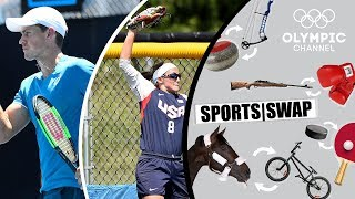 Tennis vs Softball with Vasek Pospisil & Haylie McCleney | Sports Swap
