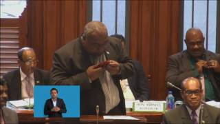 Fijian Minister Fisheries Ministerial Statement, Fisheries Preparation towards UN Oceans Conference