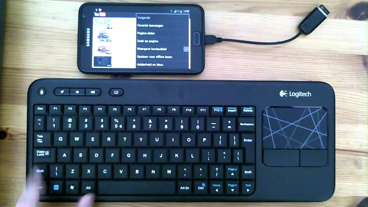 7788ba3db8e Bluetooth keyboard and mouse for Android - YouTube