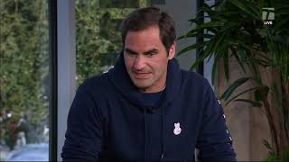 Roger Federer - 2019 Indian Wells Second Round Tennis Channel Desk Interview