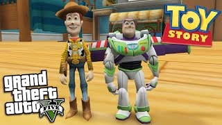 "GTA 5 Mods - TOY STORY'S ""ANDYS ROOM"" MAP MOD w/ BUZZ LIGHTYEAR & WOODY (GTA 5 Mods Gameplay)"
